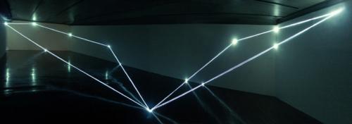 07 CARLO BERNARDINI, Permeable Space 2004, optic fibres, feet h 12x33x75 (one-dimensional vision), Passo Imperiale Museum, Rio de Janeiro.