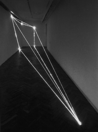 25 CARLO BERNARDINI, The Division of Visual Unity 1999, optical fibers, feet h 9x36x7,5, Arsenal Gallery, Bialystok (Poland).