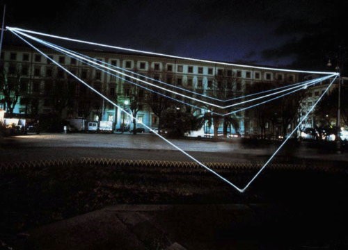 31 CARLO BERNARDINI, Permeable Space 2001, optical fibres, feet h 27x100x17, Piazza Cavour, Ancona.