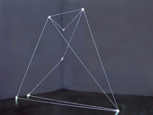 39 CARLO BERNARDINI, Permeable Space 2002, optic fiber feet h 10,5x14x7, Bangkok, National Gallery of Contemporary Art.