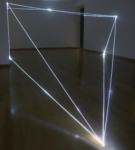 01 CARLO BERNARDINI, States of Lighting 2004, optical fibres, Bruna Soletti Gallery, Milan