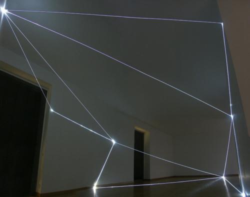 02 CARLO BERNARDINI, States of Lighting 2004, optical fibres, Bruna Soletti Gallery, Milan.