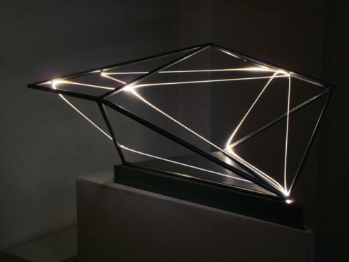 27 CARLO BERNARDINI, The Division of Visual Unity 2001, Stainless steel, optical fibers, feet h 2x2,5x2.