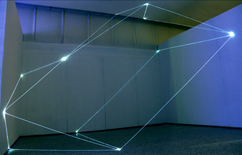 04 CARLO BERNARDINI, States of Lighting 2005, optic fibers, feet h  16x22x11. Milan, Museo della Permanente.