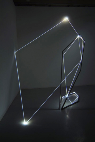 13 CARLO BERNARDINI, Light Catalyst 2005, stainless steel, optic fibers, feet h 14x16x14; Torino, Velan Contemporary Art Center.