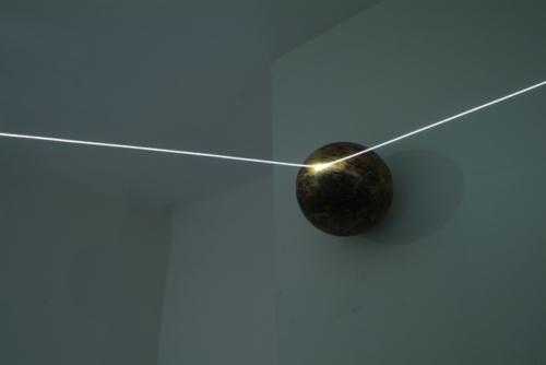 09 CARLO BERNARDINI, Event Horizon 2007, optic fibers, stainless steel spheres; feet h 7x21x17,5 (part.) Como, Allarmi3, Casema De Cristoforis.