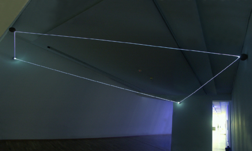18 CARLO BERNARDINI, Event Horizon 2007, optic fibers, terracotta spheres; feet h 10,5x21x17,5. Kosice-Slovakia, Vychodoslovenskà  Galéria.