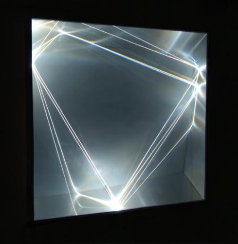 25 CARLO BERNARDINI, Light Catalyst 2006, optic fibers, Olf surface, alluminium, feet h 3,5x3,3x1.