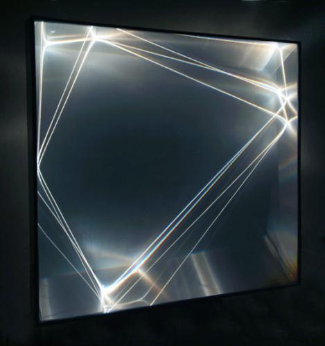 26 CARLO BERNARDINI, Light Catalyst 2006, optic fibers, Olf surface, alluminium; feet h 3,5x3,3x1.
