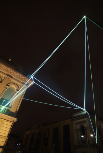 19 CARLO BERNARDINI, LIGHT CATALYST 2008, Fiber optic installation, feet h 53x71x64. Lissone (MI), Museum of Contemporary Art.