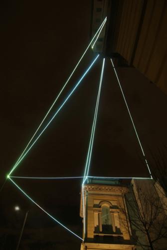 21 CARLO BERNARDINI, LIGHT CATALYST 2008; Fiber optic installation, feet h 53x71x64. Lissone (MI), Museum of Contemporary Art.