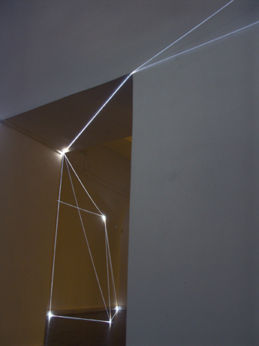 "34 CARLO BERNARDINI, PERMEABLE SPACE 2008. Fiber optic installation, feet h 11x25x28. Bratislava, ""Sculpture and Object XIII"", GMB-Mirbach Palace."