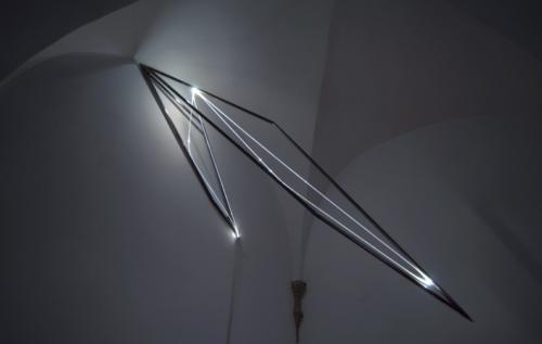 36 CARLO BERNARDINI, LA LUCE CHE GENERA LO SPAZIO, Particolari della mostra, Delloro Arte Contemporanea, Roma 2009 - 2010.