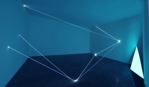 29 Carlo Bernardini, Field of organic light 2010, optic fibers, electroluminescent surface, feet h 17x74x36; La Scultura Italiana del XXI secolo, Fondazione Pomodoro, Milan.