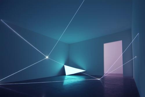 30 Carlo Bernardini, Field of organic light 2010, optic fibers, electroluminescent surface, feet h 17x74x36, La Scultura Italiana del XXI secolo, Fondazione Pomodoro, Milan.