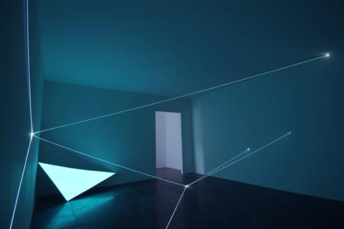 31 Carlo Bernardini, Field of organic light 2010; optic fibers, electroluminescent surface, feet h 17x74x36; La Scultura Italiana del XXI secolo, Fondazione Pomodoro, Milan.