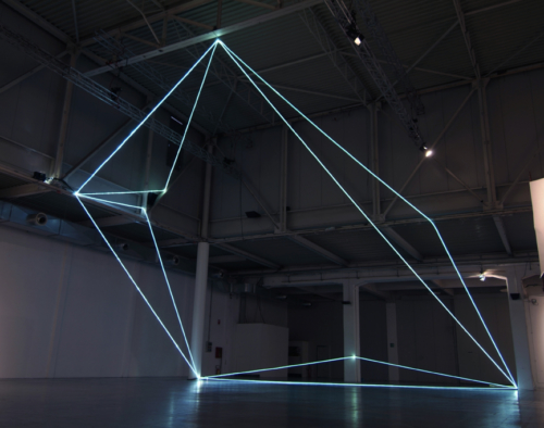 47 Carlo Bernardini, Progressive Code 2010; optic fibers installation, feet h 44x44x66; XXL, Superstudio Più, Milan.