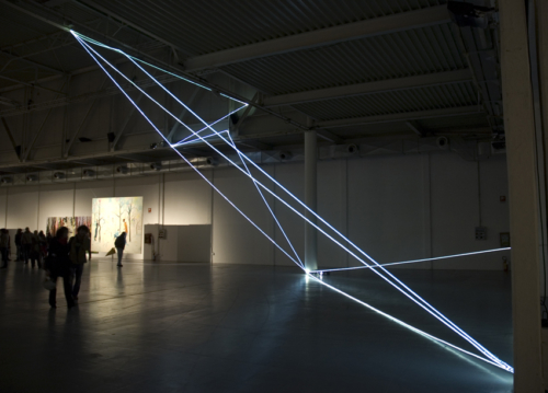 48 Carlo Bernardini, Progressive Code 2010, optic fibers installation, feet h 44x44x66. XXL, Superstudio Più, Milan.