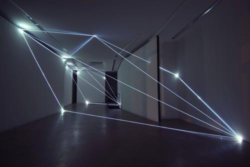 52 Carlo Bernardini, Progressive Code 2010; optic fibers installation, environmental dimension; Antonella Cattani Contemporary Art, Bolzano.