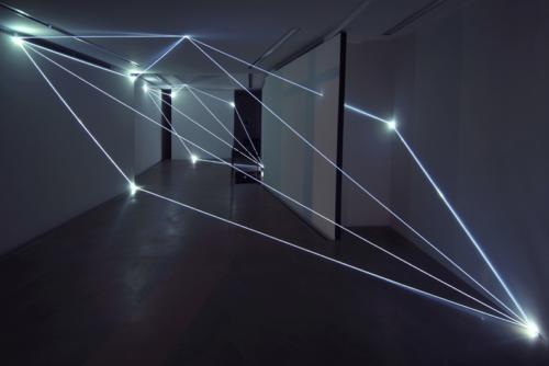 53 Carlo Bernardini, Progressive Code 2010; optic fibers installation, environmental dimension. Antonella Cattani Contemporary Art, Bolzano.