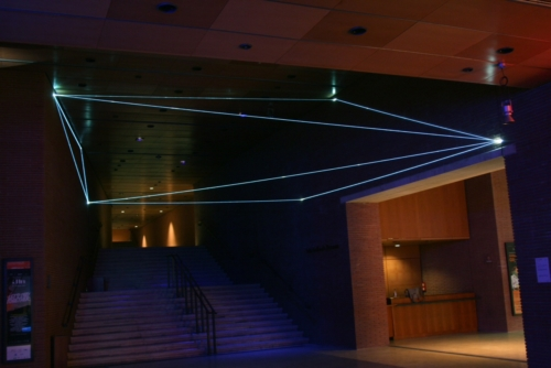 05 Carlo Bernardini Corporeality of light, 2012 Optic fibers, feet h 25 x 44 x 51. Meet in Town, Auditorium, Roma