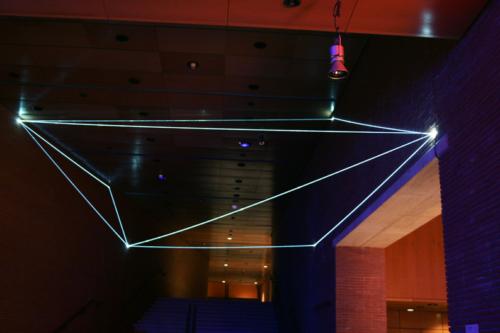 06 Carlo Bernardini Corporeality of light, 2012 Optic fibers, feet h 25 x 44 x 51. Meet in Town, Auditorium, Roma