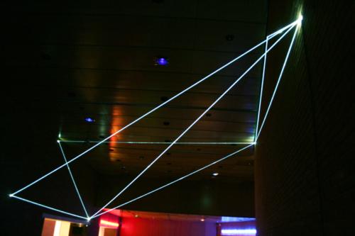 07 Carlo Bernardini Corporeality of light, 2012 Optic fibers, feet h 25 x 44 x 51. Meet in Town, Auditorium, Roma