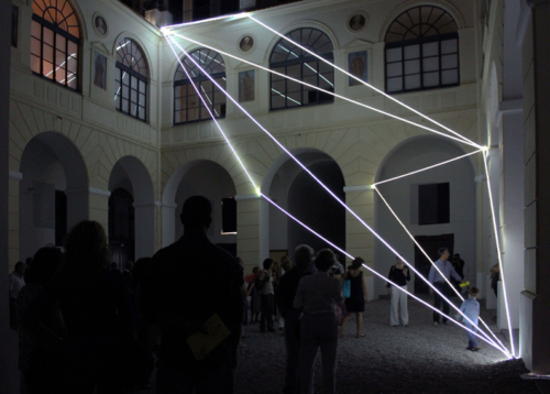09 Carlo Bernardini Corporeality of light, 2012 Optic fibers, feet h 47 x 55 x 52. Museo Diocesano, Salerno