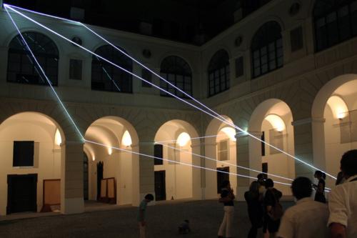 10 Carlo Bernardini Corporeality of light, 2012 Optic fibers, feet h 47 x 55 x 52. Museo Diocesano, Salerno