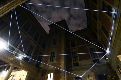 12 Carlo Bernardini Corporeality of light, 2012 Optic fibers, feet h 25 x 44 x 44. Palazzo Bagatti Valsecchi, Milan