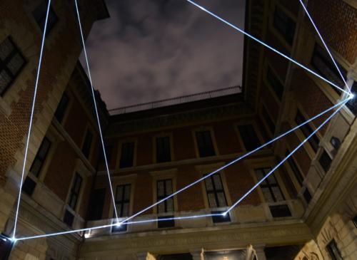 13 Carlo Bernardini Corporeality of light, 2012 Optic fibers, feet h 25 x 44 x 44. Palazzo Bagatti Valsecchi, Milan