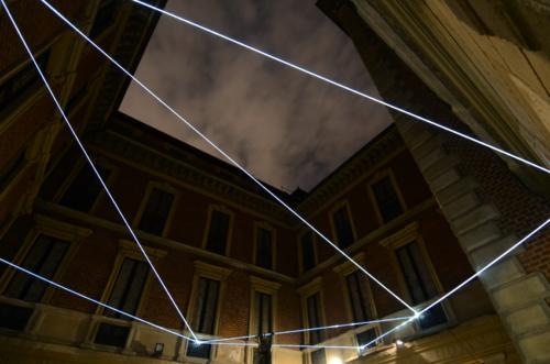 14 Carlo Bernardini Corporeality of light, 2012 Optic fibers, feet h 25 x 44 x 44. Palazzo Bagatti Valsecchi, Milan