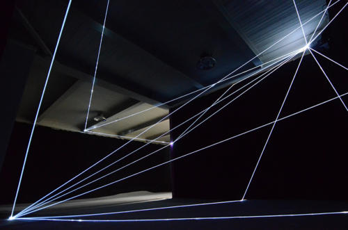 Invisible Dimensions, 2016Optic fibers installation, h mt 4 x 10 x 15.898 Innospace, GIC Global Innovator Conference, Beijing.