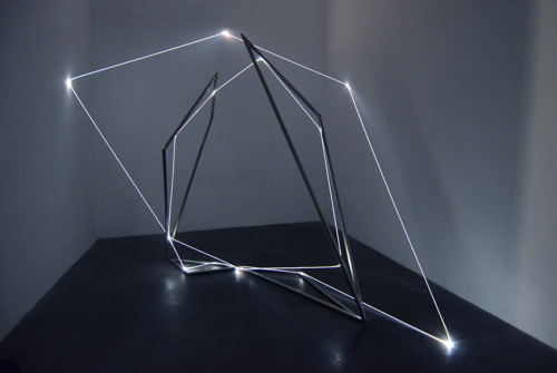 07 Carlo Bernardini Beyondlimit, 2016 Fiber optic installation, mt h 3 x 4 x 4,5. Mata, Ex Manifattura tabacchi, Modena