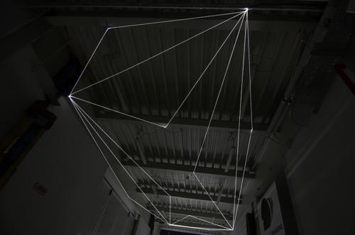 10 Carlo Bernardini Suspended Space, 2017 Fiber optic installation, h mt 5 x 13 x 4,5. Campus Bovisa - Politecnico di Milano