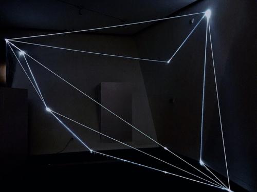19 Carlo Bernardini Invisible Coordinates, 2017 Optic fibers installation, mt h 4 x 8 x 5. Wuhan, Wanlin Art Museum of Wuhan University