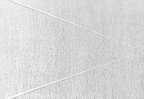 05 CARLO BERNARDINI, Virtual surfaces with light-shade lines 1996, white pigments in acrylic powder and phosphorous on boards, feet h 2,5x3,5 (light).