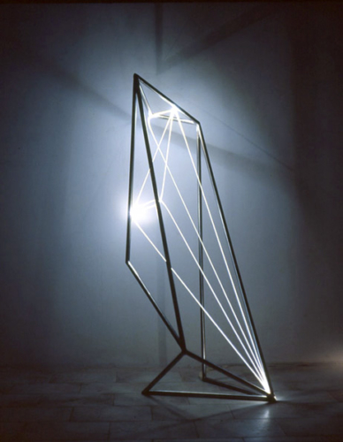 30 CARLO BERNARDINI, Permeable Space 2002 Stainless steel, optical fibers, feet h 5x2x2.