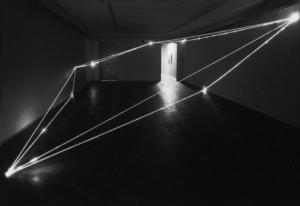 26 CARLO BERNARDINI, Divisione dell'Unità Visiva 1999, fibre ottiche, mt h 3x8x12, Arsenal Gallery, Bialystok (Poland).