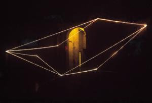 44 CARLO BERNARDINI, Virtual Volums 1998, fibre ottiche, mt h 8x10x12, Galleria Nazionale della Pilotta, Parma.