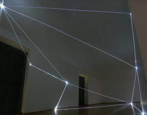 02 CARLO BERNARDINI, Stati di Illuminazione 2004, fibre ottiche, m h 3x6x15; Milano, Galleria Bruna Soletti.