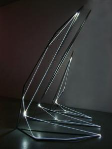 14 CARLO BERNARDINI, Linea di Luce 2004, Acciaio, fibre ottiche, mt h 3x2x3, Galleria Fioretto, Padova
