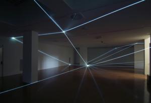 23 CARLO BERNARDINI, SPAZIO PERMEABILE 2008, Installazione ambientale in fibra ottica, mt h 3,50x18x18. Lissone (MI) Museo d'Arte Contemporanea.
