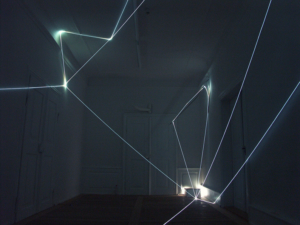 31 CARLO BERNARDINI, LIGHT CATALYST 2008. Installazione in fibre ottiche, mt h 3x6x3. Abtsgmünd-Untergröningen (Stuttgart), Kunstverein KISS Kunst im Schloss Untergröningen Temporares Museum.