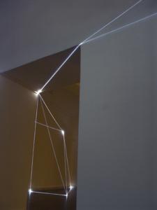 """34 CARLO BERNARDINI, PERMEABLE SPACE 2008. Installazione in fibre ottiche, mt h 3x7x8. Bratislava, """"Sculpture and Object XIII"""", GMB-Mirbach Palace."""