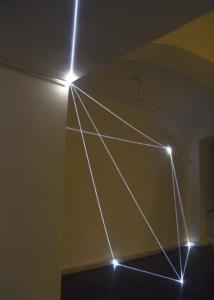 """36 CARLO BERNARDINI, PERMEABLE SPACE 2008; Installazione in fibre ottiche, mt h 3x7x8. Bratislava, """"Sculpture and Object XIII"""", GMB-Mirbach Palace."""