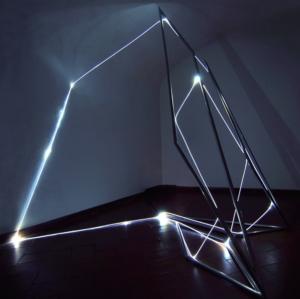 35 CARLO BERNARDINI, LA LUCE CHE GENERA LO SPAZIO, Particolari della mostra; Delloro Arte Contemporanea, Roma 2009 - 2010.