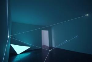 31 Carlo Bernardini, Campo Organico di Luce 2010; installazione in fibre ottiche interno esterno, mt h 5x20x10. La Scultura Italiana del XXI secolo; Fondazione Pomodoro, Milano.