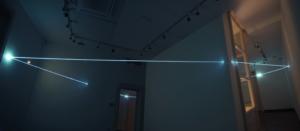 32 Carlo Bernardini, Cristallizzazione Sospesa 2010; fibra ottica, dimensione ambiente, attraversamento di tre sale; CRAA, Centro Ricerca Arte Attuale, Villa Giulia, Verbania.