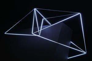 40 Carlo Bernardini, Orbita Eclittica 2011; bobina Tesla, micro neons da 3 mm di diametro, cm h 100x180x90. Principia - Stanze e sostanze delle arti prossime, Padiglioni Molecolari, Piazza Duomo, Milano.